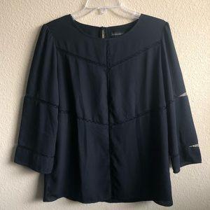 Banana Republic Black Lace Long Sleeved Blouse